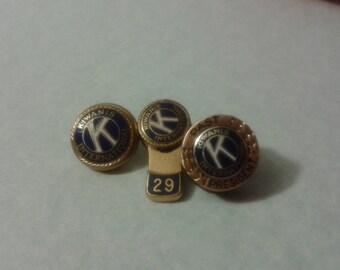 3 Kiwanis pins