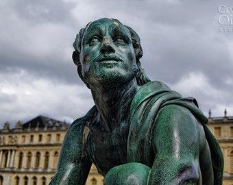 Versailles Photography, Paris Photos, Statue, French Decor, Fine Art Photography, Patina Green, Cream, Home Decor, Whimsical Art