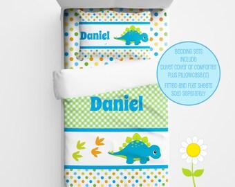 Personalized Dinosaur Bedding for Kids - Dino Duvet or Comforter for Boys - Personalized Duvet Set for Kids - Custom Kids' Comforter