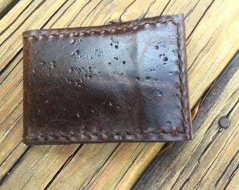 LEATHER MINI-WALLET. Perfect for when you don't need that thick bulky wallet.