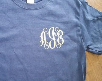 Gold Script Monogram T-shirt