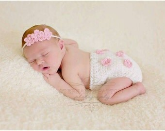 Tiny Blossoms Headband and Diaper Cover