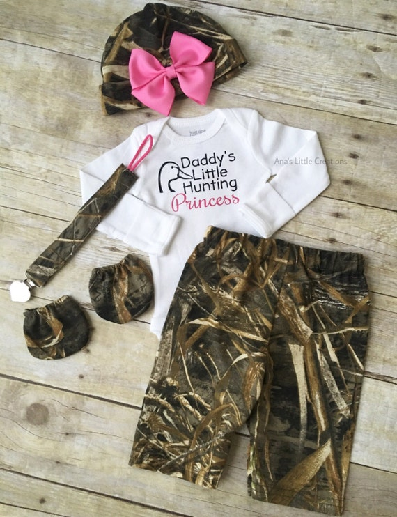 Real Tree Max 5 Baby Girl Newborn Take Home Outfit, Going Home Outfit, Baby Shower Gift Set, Camo Newborn Girl Outfit, Hot Pink