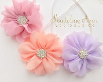 Rose Chiffon Flower Smash Headband, Girls Headband, Wedding Headband, Baby Headband