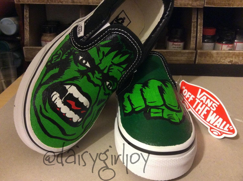 Custom hand painted Incredible Hulk Marvel DC Comics shoes