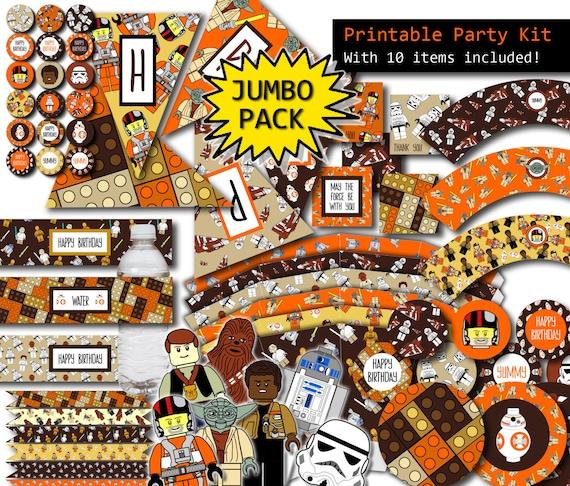 lego wars decorations 10 items by prtskindigital