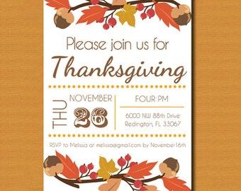 Thanksgiving Invitation, Thanksgiving Invite