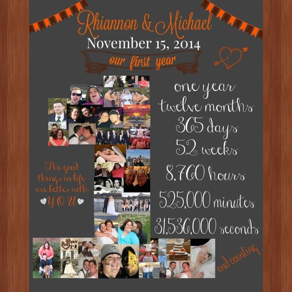 One year anniversary file our first year by lainybugsdesigns for 1st year anniversary gift ideas for wife