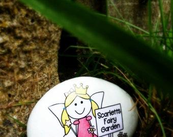 Handpainted Fairy Garden stone