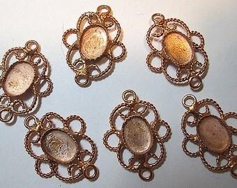 6 Vintage Copper Settings