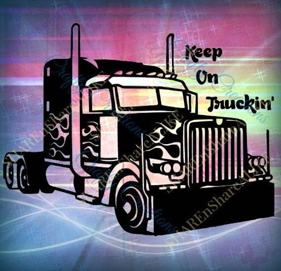 Tractor Trailer Svg Truck Semi 14 16 18 22 24 Wheeler