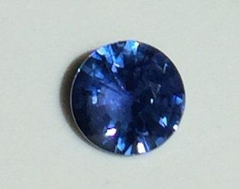 Loose Blue Sapphire Stone, Round Shape Ceylon Sapphire, September Birthstone, Natural Sapphire, Ceylon Sapphire