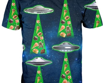 UFO Space Junk Food T shirt