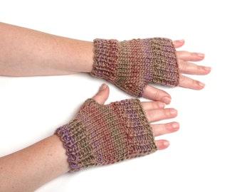 short fingerless gloves gift for her knit gloves womens gift arm warmers wool mittens