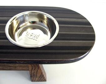 Handmade Mid Century Modern Style Pet Feeder, Elevated Pet Diner, Dog Feeder, Cat Feeder, Handmade Wood Pet Feeder, Dog Bowl