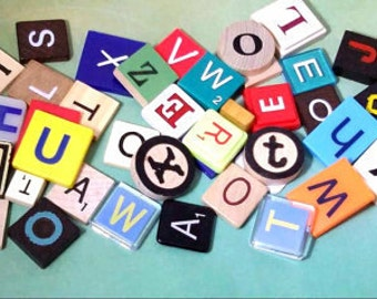 PICK YOUR LETTERS, Scrabble Tiles, Game Letters,Individual,Photo Props,Spell it Out,Alphabet,Mixed Media,Letters,Holiday Gifts,Decor,Wedding