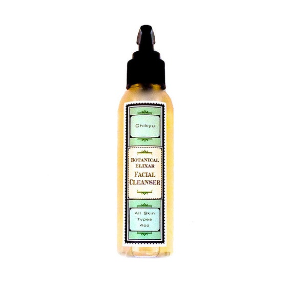 Botanical Facial Cleanser, Plant Based Facial Cleanser, Rosehip Oil Facial Cleanser, BOTANICAL ELIXIR Facial Cleanser