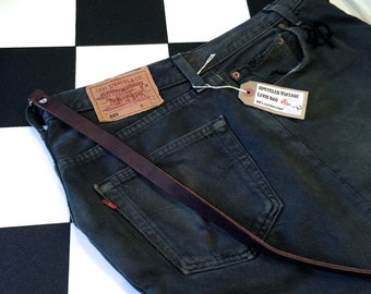 Genuine Levis denim handbag upcycled repurposed from old jeans by AsBeAu 100% leather strap #18