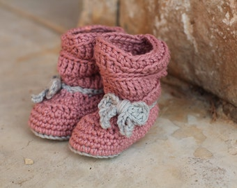 Crochet Baby Slouchy Boots