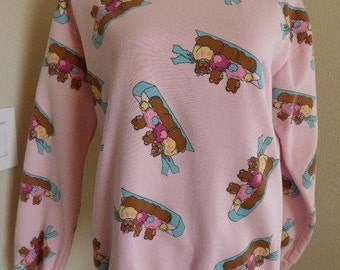 "Vintage 1980's Top MADE IN USA By 'Paradise Island' - Chest 44"" - Cute!!"