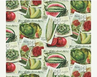 Sale 15% Off Farm Stand Seed Packets for Windham Fabrics