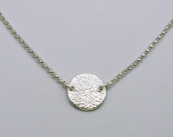Silver Fingerprint Necklace, Fingerprint Link Necklace, Fingerprint Layer Necklace, Personalized Fingerprint Necklace, In Memory Of, Wedding