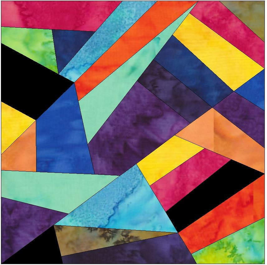 Complex Crazy Patch 8 Paper Foundation Piece Quilting