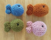 Custom listing* - 2 Woolen crochet fisherman sets (hat, overall and 1 fish each) + 2 extras fishes