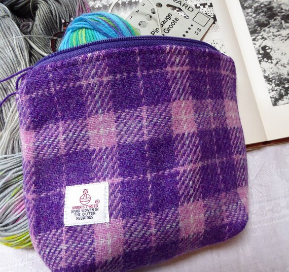 Knitting Accessories Bag : Knitting bag accessories in harris tweed