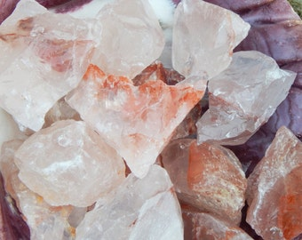 Raw Hematoid Fire Quartz stone grounding, pagan, wiccan, ritual stone