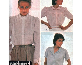 McCalls Sewing Pattern 7623 Misses' Blouses  Size:  12  Bust 32  Used