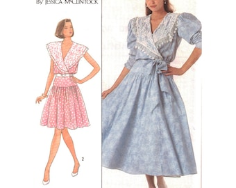 Simplicity Sewing Pattern 8611 Misses Dress in two lengths by Jessica McClintock  Size:  14  Uncut