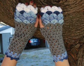 Cara's Crocodile Scale Gloves