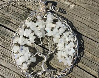 Moonstone Tree Of Life necklace, tree of life necklace, tree necklace, tree of life, wire tree of life, tree of life pendant