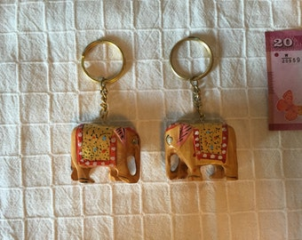 Free Shipping* 2 Pieces of Indian Elephant Keychains