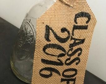 Customizable Burlap Tags, Mason Jar Sign, Table Sign, Burlap Tag