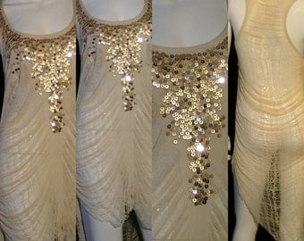 Gold Rush Top Shred Art Dress