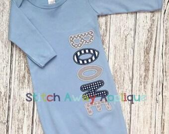 Cutie Patootie Baby Gown Applique Alpha Machine Applique Design