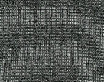 15% Off- Metallic Ebony- Essex Yarn Dyed, Robert Kaufman Fabrics, By the Half-Yard