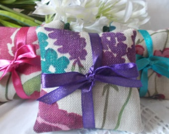 Set of  2 Linen Lavender Sachets - Fragranced sachets filled with Lavender