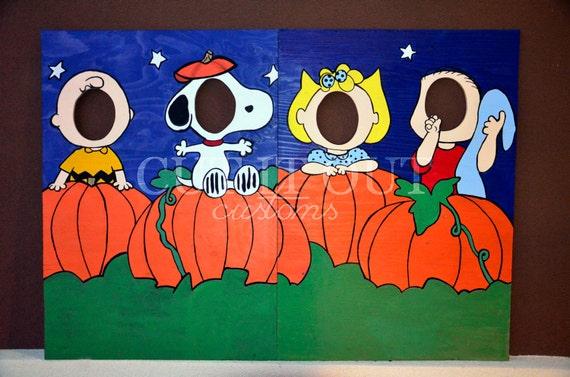 Charlie Brown Peanuts Gang Halloween Photo Prop By