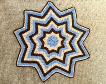 Beautiful hand crochet baby star blanket