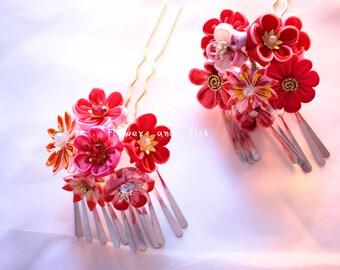 kimono accessories kanzashi hair pin, geisha hair accessories, Kanzashi Hair Stick, geishas hair piece,Janpanese Kanzashi, set of two-B34