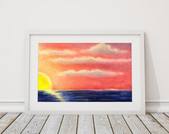 Sunrise Print from Pastel Drawing