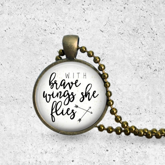 Pendant Necklace, Adoption Gifts, She Believed She Could So She Did, Hope, Adoption Necklace, With Brave Wings She Flies, The Copper Anchor