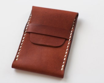 Winchester Wallet - Horween Cognac Essex - Legacy Brand Leather Hand Stiched