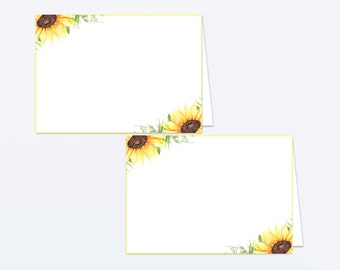 Baby Shower Food Tent Labels - Floral Baby Shower - Printable Food Labels - Floral Place Cards - Flower Food Labels - Sunflower