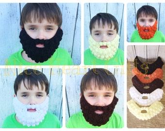 Crochet Beard Costume Accessory Fun for Halloween Photo Prop Winter Boys Girls Men Women