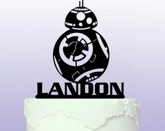 Personalised BB8 Star Wars Cake Topper