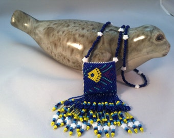 Beaded Fishy Amulet Bag